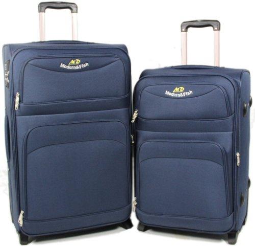 Blau 2-tlg 8009 Koffer-set Trolley Reisekoffer