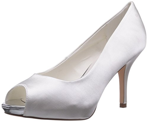 Menbur Wedding Amalia, Decolleté open toe donna, Avorio (Elfenbein (Ivory 04)), 39
