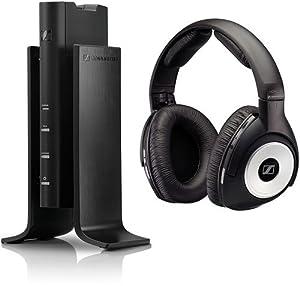 Sennheiser RS 170 Digitales Funkkopfhörersystem (110 dB) mit dynamischem Bass-Sound schwarz