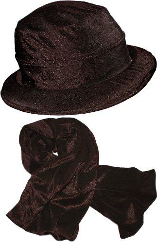 Velvet Hat Set - marrone