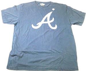 Atlanta Braves Mens T-Shirt Red Jacket Brass Tacks MLB Vintage Washed 100% Cotton by Red Jacket