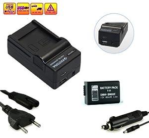 LOOkit Set: 4in1 Chargeur + 1x LOOKit Batterie pour Canon BMB9- LI-ION -- Pour Panasonic Lumix DMC FZ70 / FZ72 / FZ150 / FZ60 / FZ62 / FZ45 / FZ48 / FZ100 par exemple Leica V-LUX 3