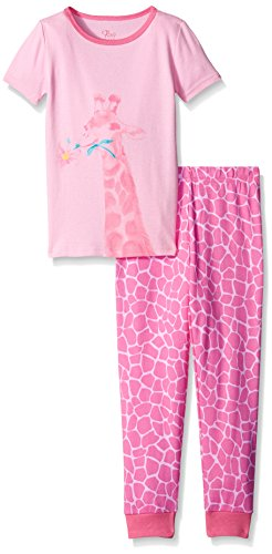 The Children's Place Big Girls Short Sleeve Printed Pajama Set, Sparkle Pink, 8