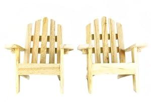 2 Adirondack Plain Wood Chairs by Darice