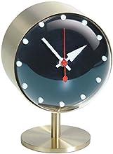 """Vitra 215 021 01 - Orologio da tavolo """"Night"""", in vetro acrilico, 15 x 10,5 x 10 cm, colore: Argento/Blu"""