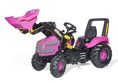 Rolly Spielsachen - ROSA MÄDCHEN X-Trac XL - Rutscher Pedale Traktor & Trac Lader (Alter 3-10)