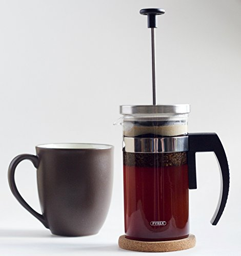 Brillante-Small-French-Press-Coffee-Maker-Tea-Press-350-ml-12-Oz-Premium-Stainless-Steel-European-Glass-Beaker-Unique-2nd-Screen-for-a-Clean-Ground-Free-Cup-of-Coffee-Model-BR-CP1-350