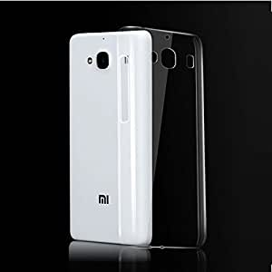 Dashmesh Shopping Ultra Thin 0.3mm Clear Transparent Flexible Soft TPU Slim Back cover Compatible for Xiaomi Redmi 2 Mi 2 Mi2 prime