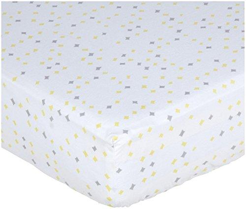Pehr Designs Constellation Crib Sheet Neutral Grey/Yellow