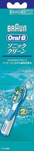【正規品】 ブラウン オーラルB 電動歯ブラシ 替ブラシ ソニッククリーン 2本入 SR18-2-EL