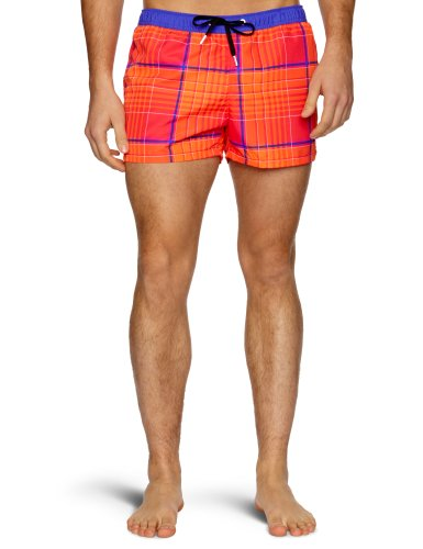 Bjorn Borg Tonal Check Side Pocket Men's Swim Shorts Diva Pink Medium