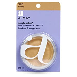 Almay Nearly Naked Touch-Pad Liquid Makeup with SPF 12, Honey 320, 0.5-Ounce Packages (Pack of 2)