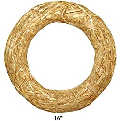 Floracraft Straw Wreath, 16-Inch, Natural