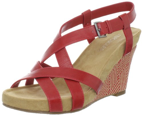 Aerosoles Women's At First Plush Sandal,Red,6.5 M US