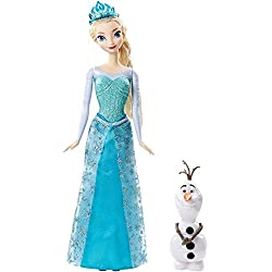 Disney Frozen Sparkle Princess Elsa and Olaf Doll Gift Set