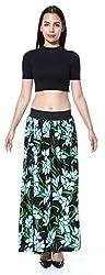 Green Floral Leaf skirt