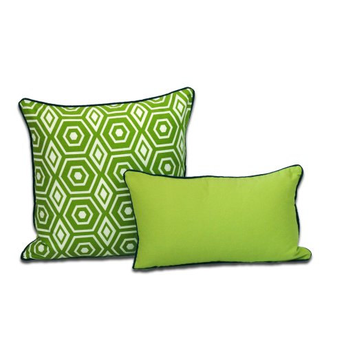 Decorative Pillows For Bed Green : Lime green decorative pillows for your living and bedroom space