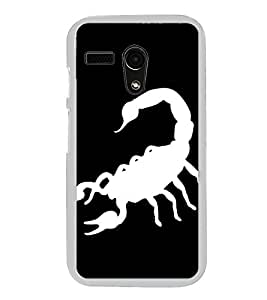 Scorpion 2D Hard Polycarbonate Designer Back Case Cover for Motorola Moto G :: Motorola Moto G (1St Gen)