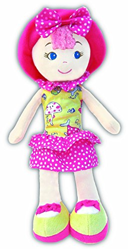 "Leila Polka Dot Cutie Stuffed Soft Rag Doll Baby Kids 14"" Girlzndollz"