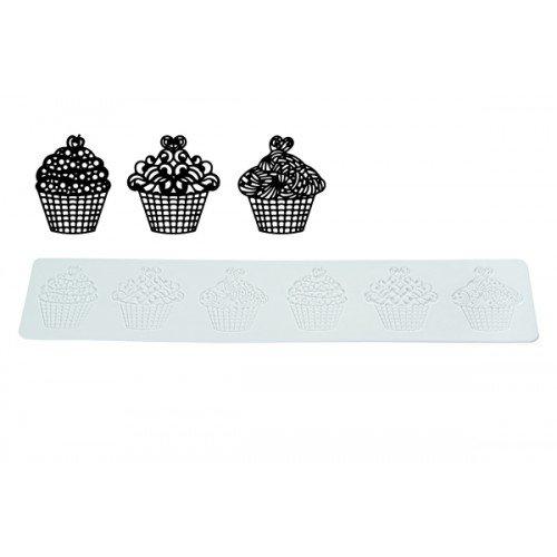 Plantillas cupcakes tricot 40x8 cm