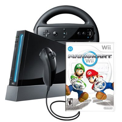 Wii Console with Mario Kart Wii Bundle – Black