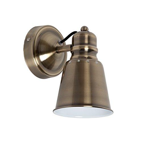 Applique style classique, moderne, armature et plafonnier en métal galvanisé en bronze, 1 ampoule incl.1 x 40W E14 230V