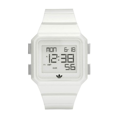 Adidas Originals Unisex White Digital Peachtree Watch - ADH4056