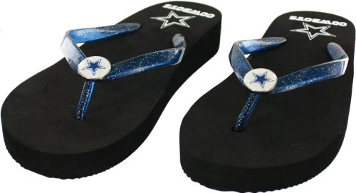 Dallas Cowboys Women's Wedge Flip Flop Sandals, X-Large (11-12) at Amazon.com