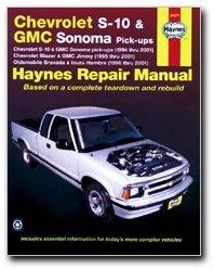 Haynes Chevrolet S-10 and GMC Sonoma Pick-ups (94 - 04) Manual PDF