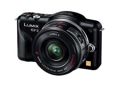 Panasonic デジタル一眼カメラ LUMIX GF3 電動ズームキット エスプリブラック DMC-GF3X-K