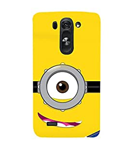 printtech Funny Yellow Face Glasses Back Case Cover for LG G3 Beat / LG G3 Vigor / LG G3s /LG g3s Dual