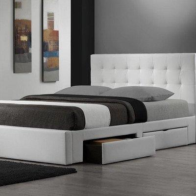 White Queen Storage Bed