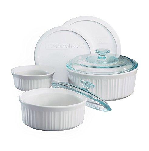 CorningWare French White 7-Piece Bake and Serve Set (Corning Casserole Dish Sets compare prices)