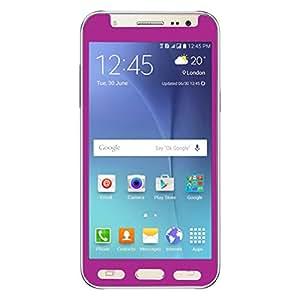 QAWACHH Tempered Glass For Samsung J7 Purple colour