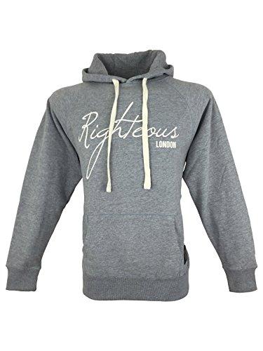 Righteous London -  Felpa con cappuccio  - Maniche lunghe  - Uomo grigio Large