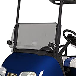 NEW RecPro EZGO RXV TINTED WINDSHIELD WITH FOLDING ACRYLIC FOR GOLF CARTS
