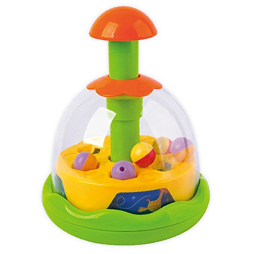 Wishtime Colorful Activity Spinning Popping Sounds Sensory Spinner Top Toy