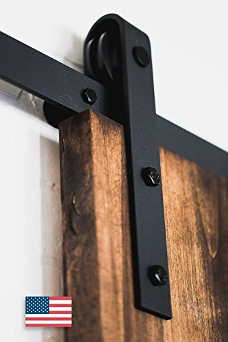 Artisan Hardware Classic Sliding Barn Door Hardware, 8-Feet, Black Powder Coat (Barn Door Track Hardware compare prices)