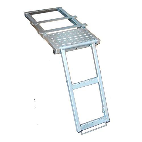 Einstiegsleiter-Podest-Stufen-verzinktes-Blech-Anhnger-LKW