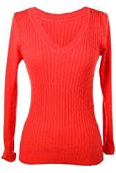 G2 Chic Women's V-Neck Cable Knit Sweater