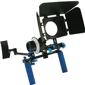 ePhoto DSLR Rig Chest Camera Stabilizer Mount Follow Focus Matte Box for 5D, 7D, 60D, T2i, T3i, 550D RL002FM