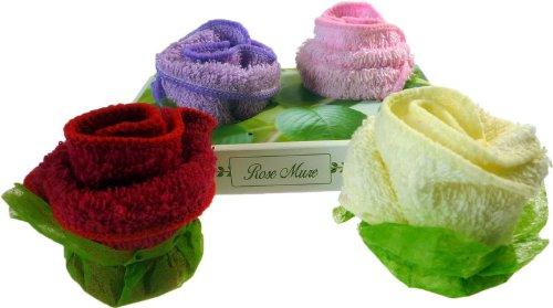 Twin Roses asciugamano in confezione regalo. Dimensioni: h: 7, W: 15,2, D: 10 cm; Dimensione del telo: 20 x 20 cm x 2, - grande un regalo perfetto per compleanni, Natale......
