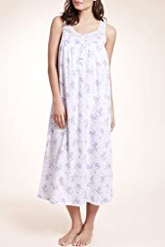 Pure Cotton Scoop Neck Floral Nightdress [T37-7707-S]