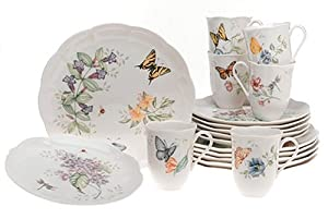 Amazon.com: Lenox Butterfly Meadow 18-Piece Dinnerware Set