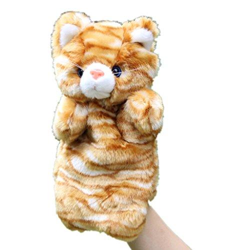 HLDIY-Lovely-Kids-Baby-Yellow-Cat-Hand-Puppet-Plush-Toys-Storytelling-Doll