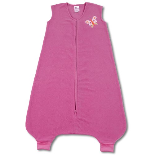 HALO SleepSack Big Kids Micro-Fleece Wearable Blanket, Fuchisa, 2T- 3T