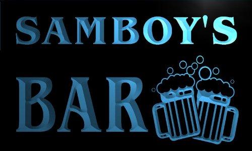w102572-b-samboy-name-home-bar-pub-beer-mugs-cheers-neon-light-sign