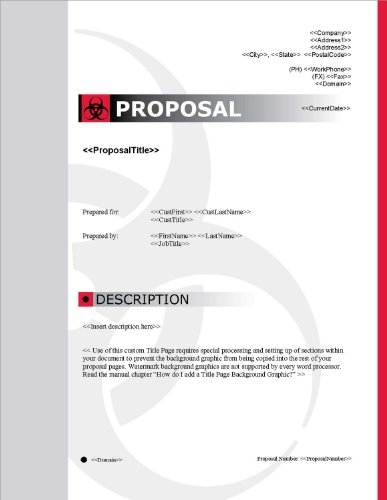 Proposal Pack Safety #1 V15.0 - 2014