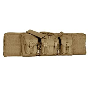 Voodoo Tactical 15-7613 Enhanced 36-inch MOLLE Compatible Soft Rifle Case, Coyote Tan