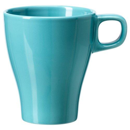 Ikea - Färgrik Mug, Stoneware Turquoise (X4)